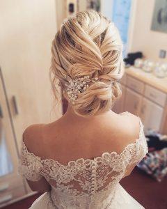 Elegante Brautfrisur