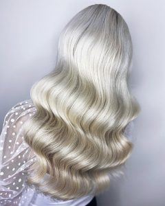 Hollywood Waves Brautfrisur