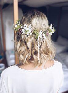 Blumenkranz Locken kurze Haare