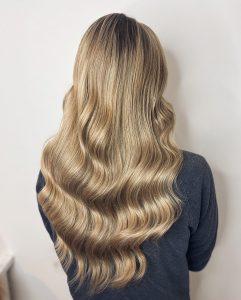 Hollywood Waves Brautfrisur für lange Haare