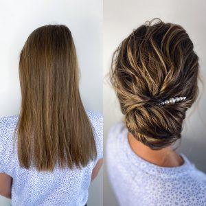 Lockere Brautfrisur mit Volumen für glatte, dünne Haare