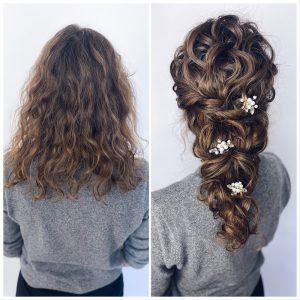 Vorher Nachher Haartransformation Mermaid Braid lockig
