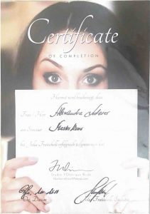 Julia Fratichelli Masterkurs Zertifikat
